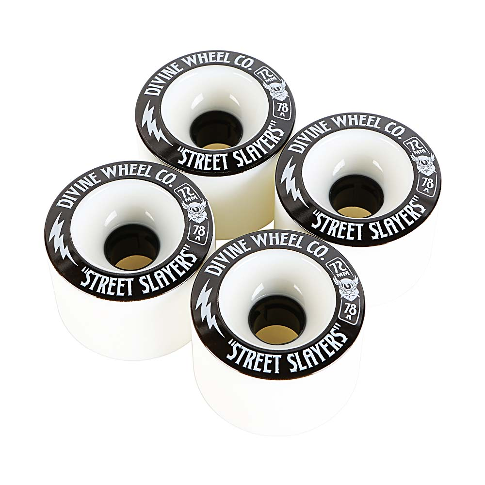 Комплект коліс для лонгборду Divine Wheel Co. Street Slayers 72mm 78a