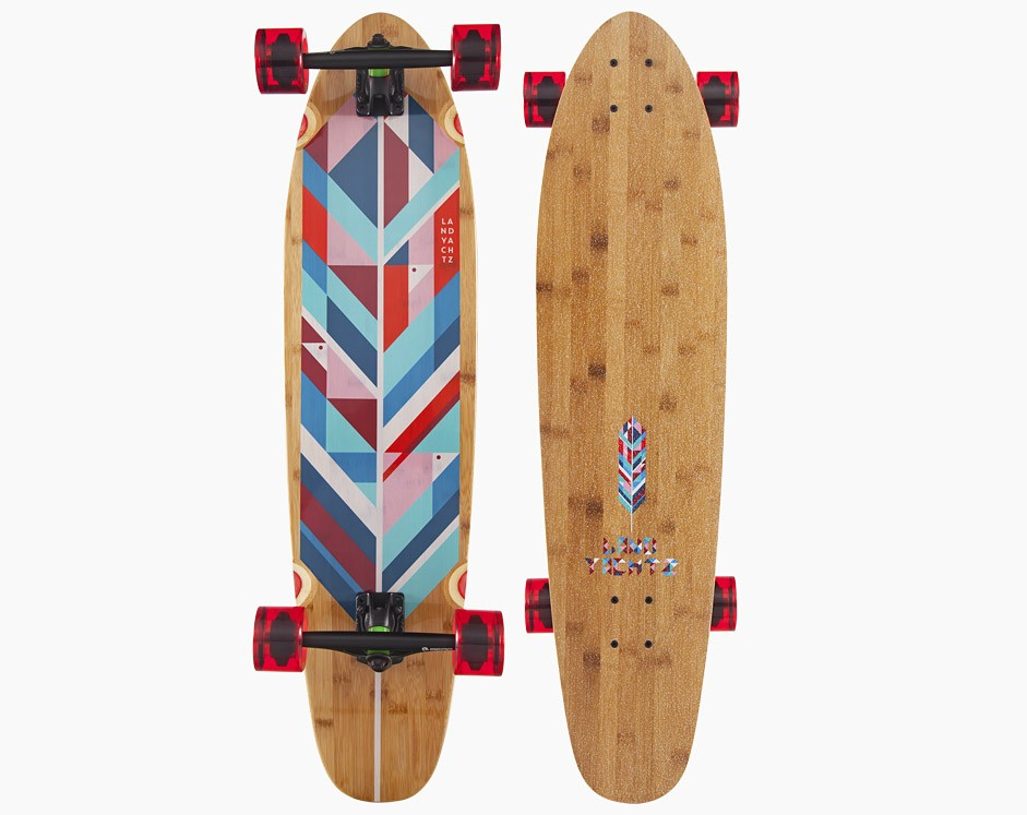 37″ Landyachtz Bamboo Ripper Geo Feather